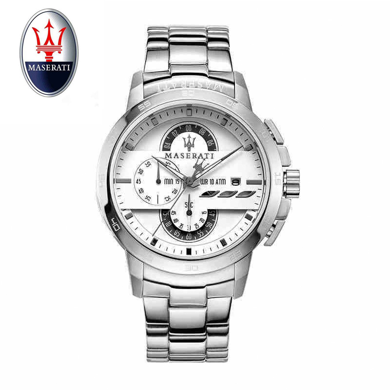 Maserati Элитный бренд наручные Для мужчин часы Бизнес Мужская Мода Повседневное кварцевые часы Водонепроницаемый спортивные наручные часы
