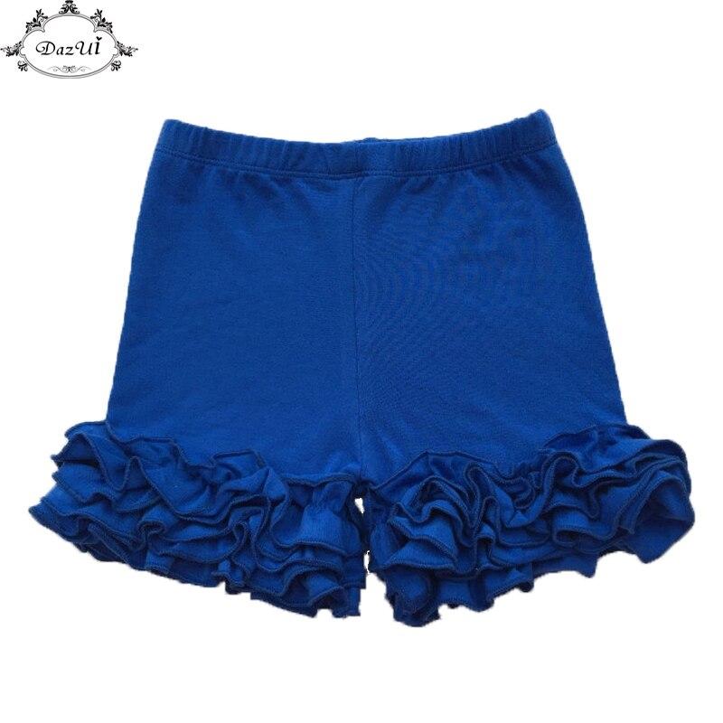 Icing Baby Shorts Royal Blue Summer Girls Clothing Three Triple Ruffle Boy Girls Shorts Cotton ...