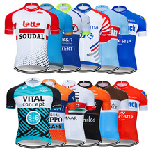 Лето 2019 Франция Велоспорт Джерси Mtb рубашка Мужская короткая Ropa Ciclismo велосипедная одежда быстросохнущая велосипедная одежда верхняя одежда
