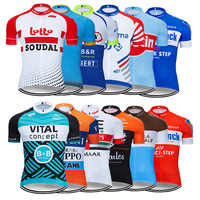 Summer 2019 France Cycling Jersey Mtb Shirt Mens Short Ropa Ciclismo Bicycle Clothing Quick Dry Bike Clothes Top Wear