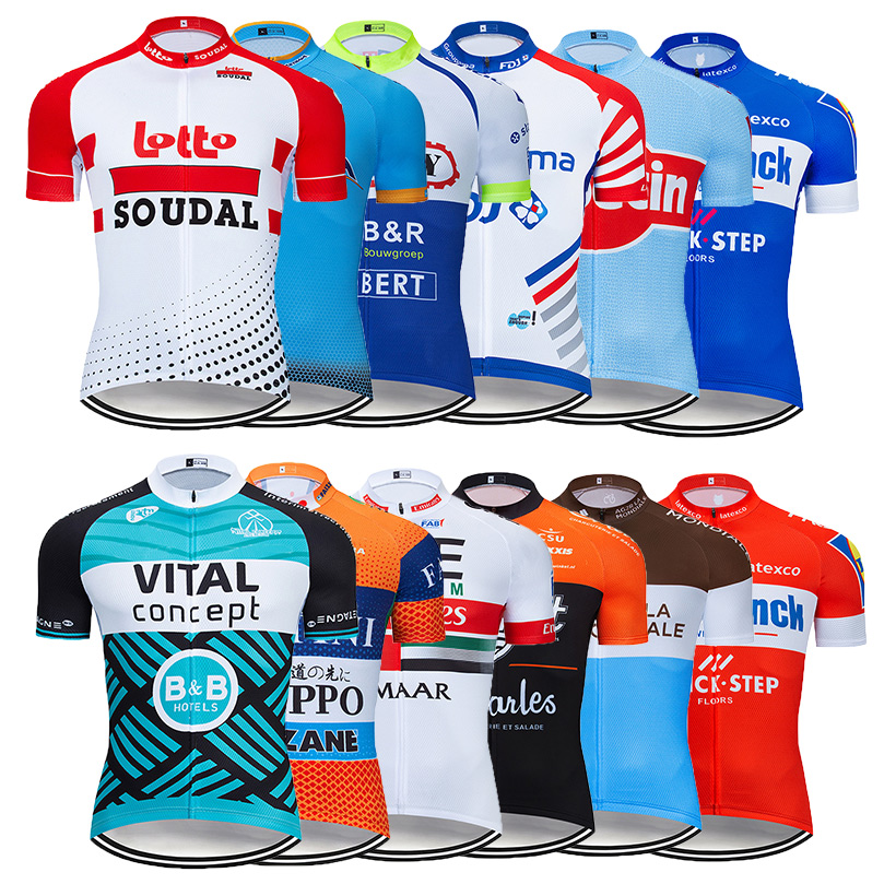 Summer Men/'s Cycling Jerseys Short Sleeve MTB Shirts Half Zipper Bicycle Tops