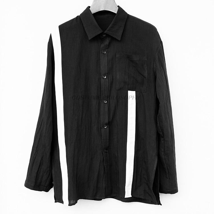 Hartig 2019 Originele Ontwerp Patchwork Casual Mannen Shirts Dark Linnen S-6xl! Grote Omvang Mannen Shirts