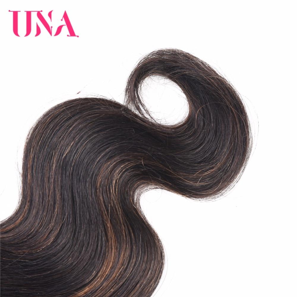 UNA Brazilian Human Hair Body Wave Bundles 3 Bundles Deal Non Remy Human Hair Sew in Extensions 12 quot 26 quot Color 1B 30 in 3 4 Bundles from Hair Extensions amp Wigs