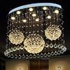 Z Modern Crystal Ceiling Lamp Oval Bedroom Lighting LED Crystal Chandelier For Bedroom Livingroom Restaurant GU10