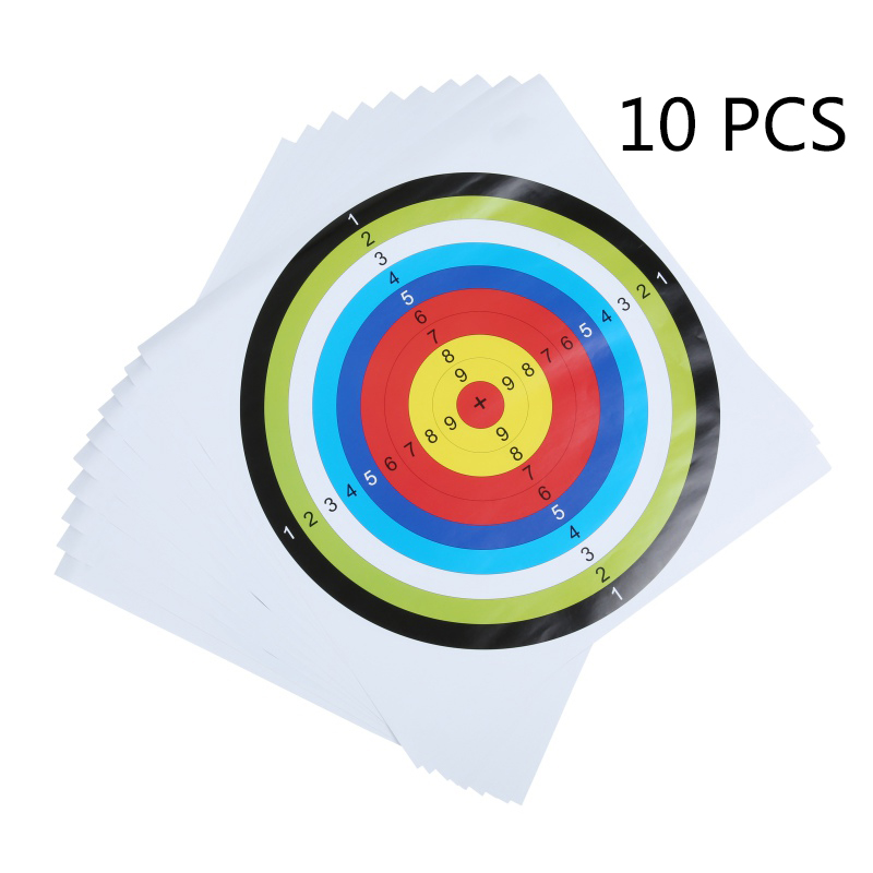 10pcs 40CMX40CM EVA Sponge Archery Target Shooting Equipment Dart For Hunting Shooting Training Shooting Target Paper