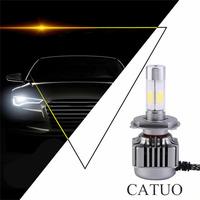 CATUO 2 pz/set New Car Styling Ad Alta Potenza Super Luminosità H4 120 W 12000LM COB LED Kit Fari Hi/Anabbaglianti Lampadine Bianco 6000 K