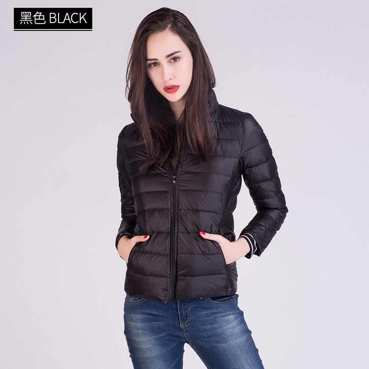 Uwback женские пуховики для женщин, теплое пальто, зима 2018, новое модное пальто с длинными рукавами, 90% утиного пуха, ультра легкая парка, EB285