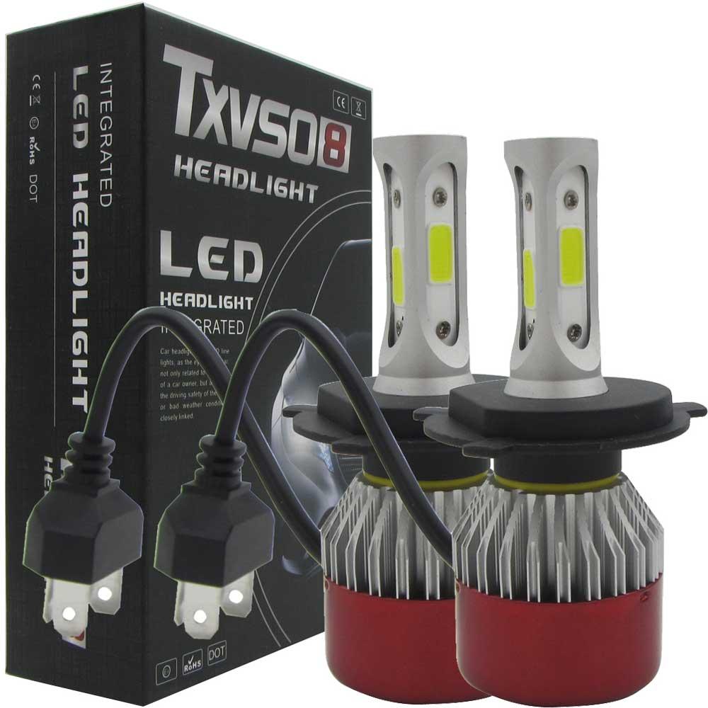 2 ədəd LED Headlight Light H4 Salam / Aşağı şüa LED COB Uzaq - Avtomobil işıqları - Fotoqrafiya 6