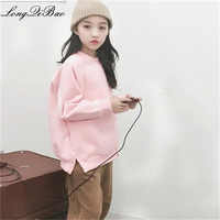 Baby girl plus velvet 2018 winter new Korean version of the big boy small fresh lady set head five pointed star sweater tide