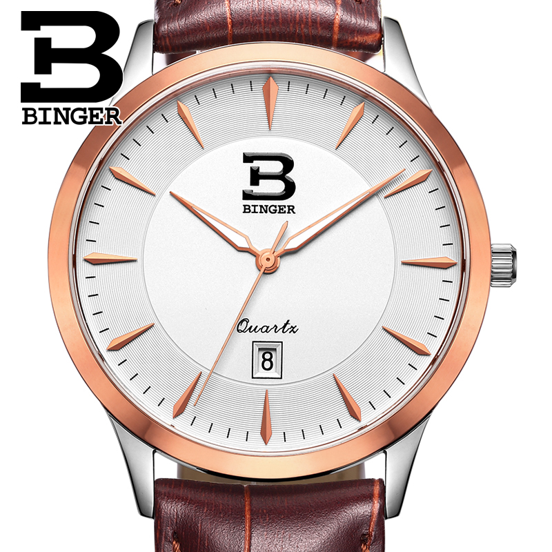 Switzerland watches men luxury brand BINGER business quartz full stainless steel Water Resistance Wristwatches B3005M-7 weide brand watches business for men analog digital watches wristwatches 3atm water resistance steel clock black dial wh3403 page 7