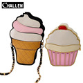 2016 Famous Luxury Brand Ice Cream Cake Chain Bags Female Italian Women Leather Shoulder Bag Designer Clutch Handbag Tote Purse,