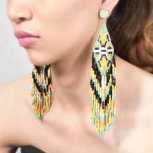 Pandora Bohemian Earrings Ear Cuff Handmade Tassel Dangle Earrings