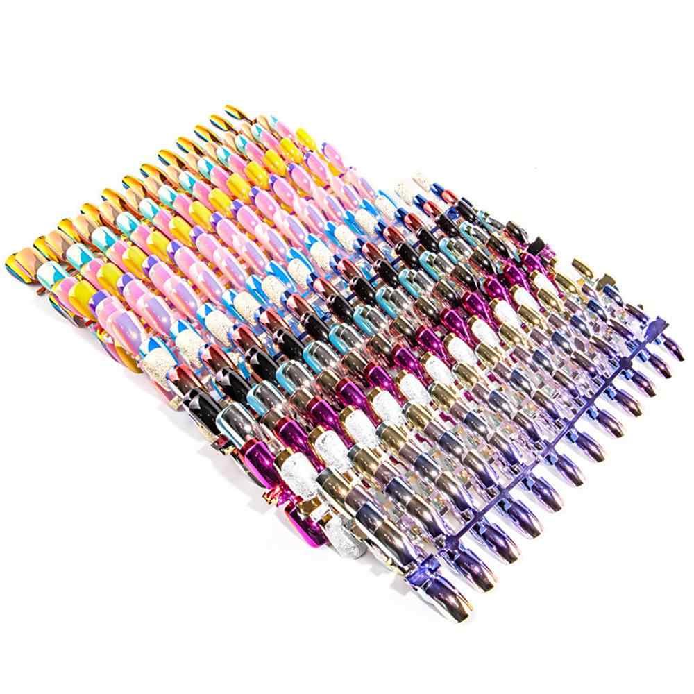 Короткие накладные ногти на шпильках, 24 шт., полное покрытие, накладные ногти на шпильках, АБС, искусственные ногти, украшения для дизайна ногтей, женский макияж, накладные ногти