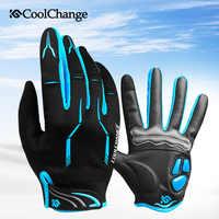 Coolchange tela sensível ao toque dos homens luvas de ciclismo gel almofada dedo cheio bicicleta luvas mtb bmx estrada mountain bike luva
