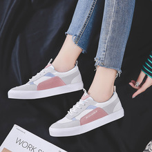 Fashion Light and comfortable female canvas shoes student running Korean version of the wild flat bottom women sneakers