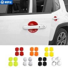 MOPAI ABS Auto Porta Ciotola Maniglia Copertura Decorazione Assetto Adesivi per Jeep Renegade 2015 Up Esterno Accessori Auto Car Styling
