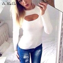 DeRuiLaDy рубашка женская осень зима Длинный рукав блузки Сексуальная блузка мода платья больших размеров марочный топ Повседневный одежда для женщин