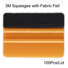 EHDIS 100Pcs 3M Gold Felt Squeegee Vinyl Film Car Window Cleaner Quick Water Drying Wiper Car