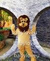 New Arrival Popular Animal Yellow Lion Plush Adult Mascot Costume for Christmas