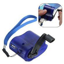 Горячая Ручная обмотка аварийное зарядное устройство USB ручная Динамо-машина для MP3 MP4 Мобильный USB PDA мобильный телефон банк питания Аварийная зарядка