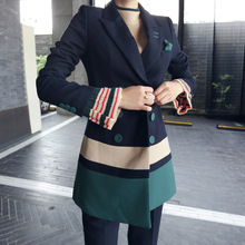 Trouser and 3/4 Trench Style Blazer Business Suit