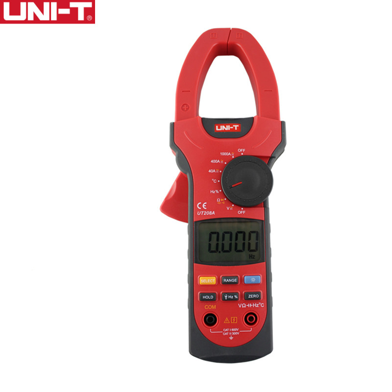 UNI-T UT208A 1000A Digital Clamp Meters Capacitance Frequency Measure Multimeter Auto Range Capactance Resistance цена