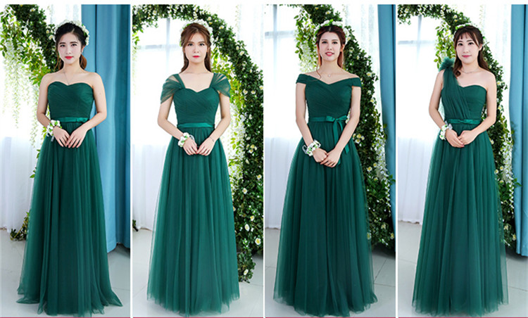 Robe De Soriee Emerald Green Bridesmaid Dress Elegant Bride Party Married  Gown Cheap Prom Dress Under 50 Vestido De Festa Longo 5bb2f31829da