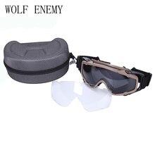 Preto Esportes do Esqui   Paintball Airsoft Óculos anti nevoeiro Ballistic  Óculos De Proteção Para Capacete c7d68c559a