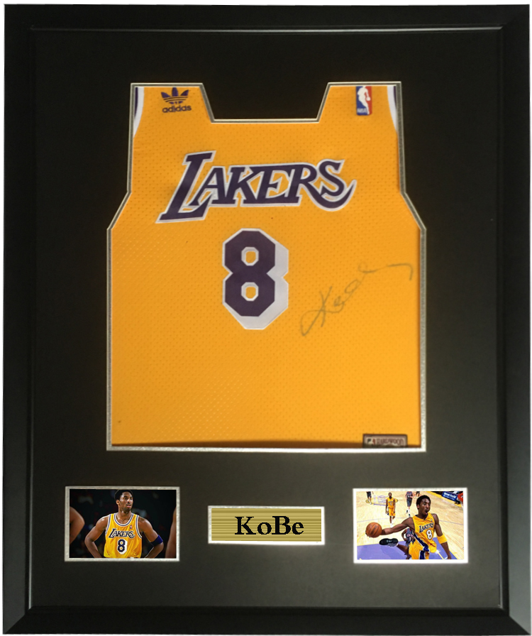 3bdb29e71498 Kobe Bryant signed autographed basketball shirt jersey come with Sa coa  framed Lakers-in Frame from Home   Garden on Aliexpress.com