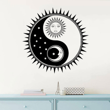 Yin Yang Sun And Moon Wall Sticker Stars Sky Home Decoration Vinyl Art Removable Poster Mural Beauty Bedroom Decals Decor W148 blue sky 3d mordern wallpapers floor sticker removable mural decals vinyl art star sky ground ceiling stickers decal home decor