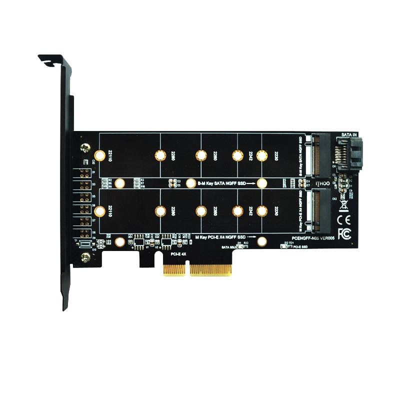M.2 NVMe SSD NGFF to PCIE X4 Adapter M/B Key Dual Interface Converter Card(China)