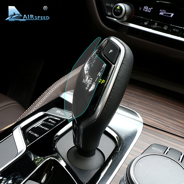 Airsd Invisible Lhd Car Gear Shift Protective Film Interior Sticker Trim For Bmw 5 Series