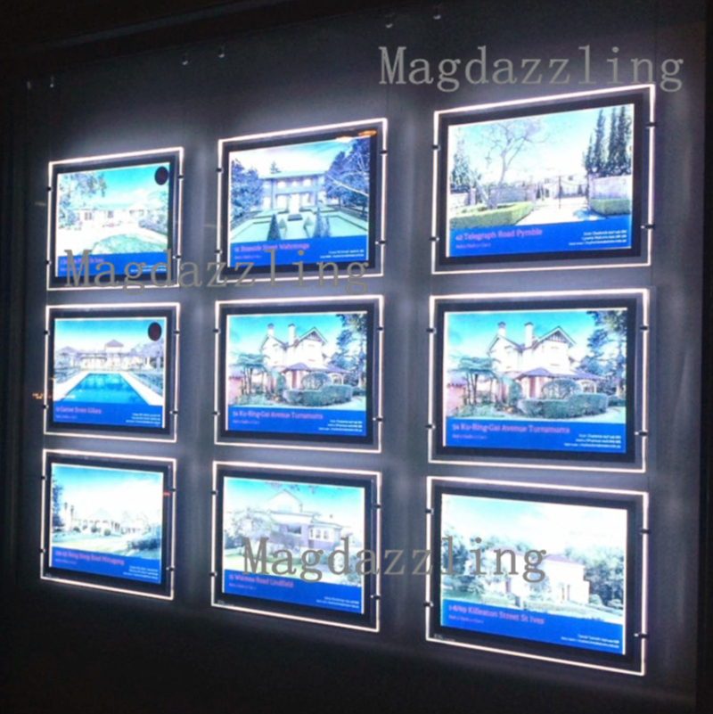 A3 Double Sided Horizontal Led Cable Display Kits Real