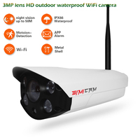 3MP lens 32GB HD Outdoor waterproof Infrared Security Camera WiFi Camera Nightvision Bullet IP Camera Mobile detection camera