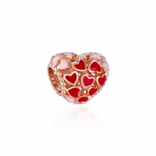 Роскошная кристаллическая звезда бабочка пчела цветок бусины-сердечки Fit Pandora Подвески Браслеты для женщин своими руками европейские ювелирные изделия Bijoux