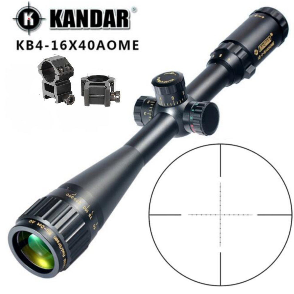 KANDAR Gold Edition 4-16x40 AOME Glass Etched Mil-dot Reticle Locking RifleScope Hunting Rifle Scope Tactical Optical Sight kasho 7 inch cutting scissors professional scissors hairdressing salon barber pet shears dragon shaped handle