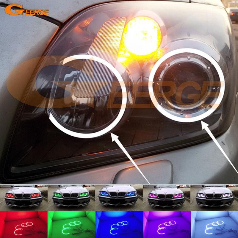 Для Toyota Avensis T25 2006 2007 2008 2009 отлично мульти-Цвет ультра ярких rgb led Ангельские глазки комплект Halo Кольца