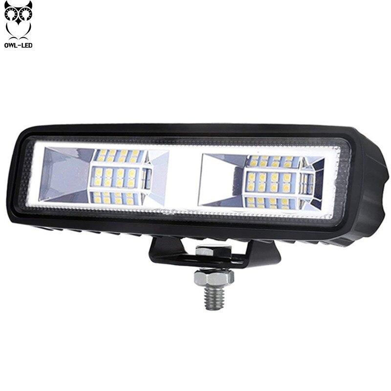 Car Led Lights 40W Off Road Led 12 Volt Running Light 6Inch Lights For Auto 4X4 Lada Niva Ford Vaz Fog Lights