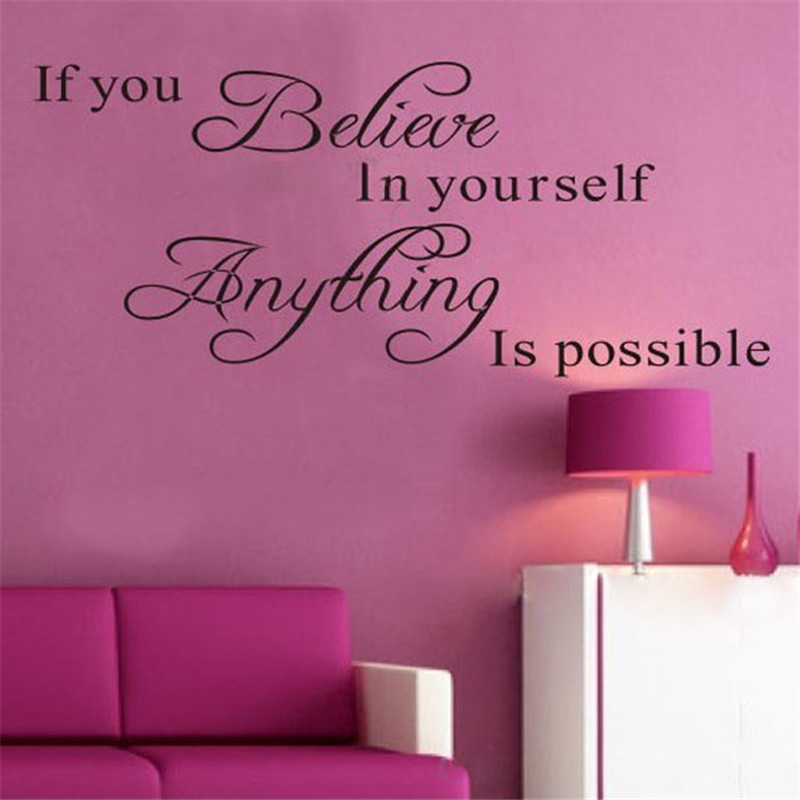 2018 KAKUDER 1PC Believe Anything is Possible Inspirational Wall Sticker Decals DIY