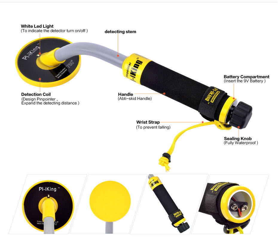 Free shipping King & Pulse Induction 750 Underwater PinPointer 30M Fully Waterproof Metal Detector with Vibration LEDFree shipping King & Pulse Induction 750 Underwater PinPointer 30M Fully Waterproof Metal Detector with Vibration LED