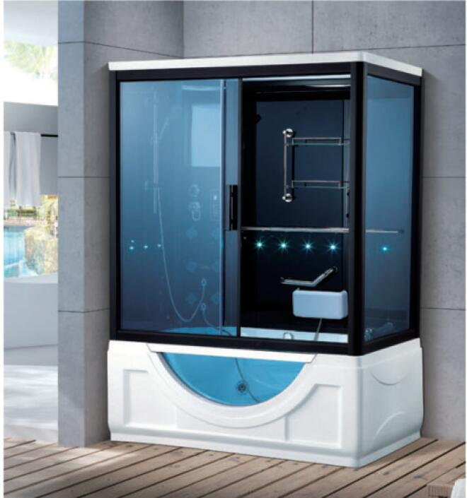 Ambitious 1520x1010x2200mm Double Person Bathroom Steam Shower Enclosure With Lcd Computer Control Wet Sauna Room 7032a