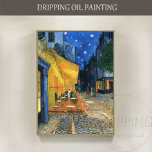 Skilled Artist Hand-painted Van Goghs Impressionist Landscape Cafe Terrace Place of Forum Arles Oil Painting For Living Room