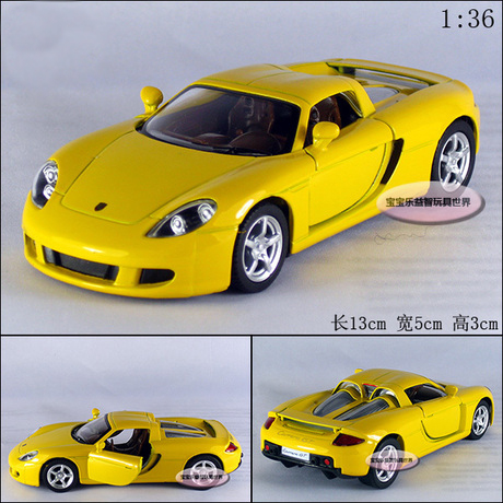 Candice guo! New arrival super cool 1:36 Carrera GT sports car alloy model car toy 1pc ...
