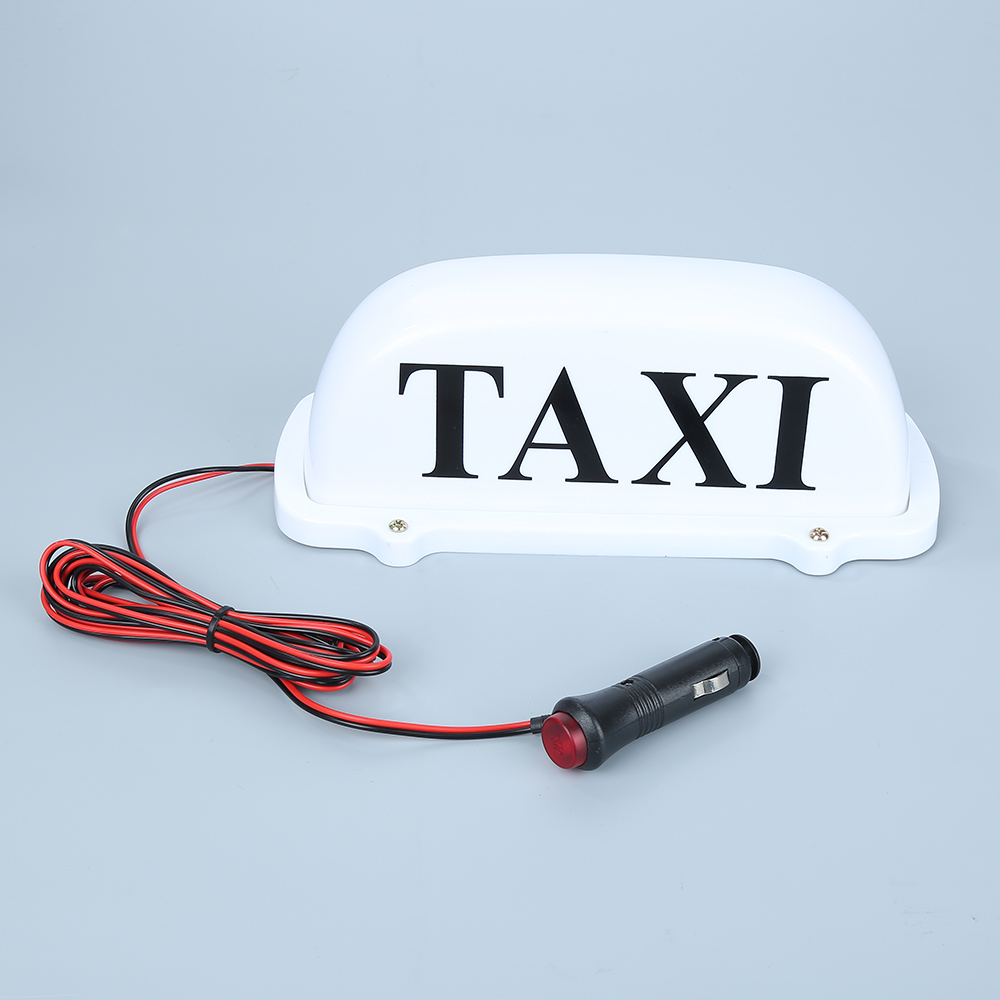 Strong Magnetic LED Taxi Car Meter Cab Topper Roof Sign Light 12V Large Size 14 Long Car Auto Dome Roof Cab Hire Lamp White wholesale taxi led light auto indicator lamp vehicles car windscreen cab sign white led taxi lamp 12v car styling free shipping