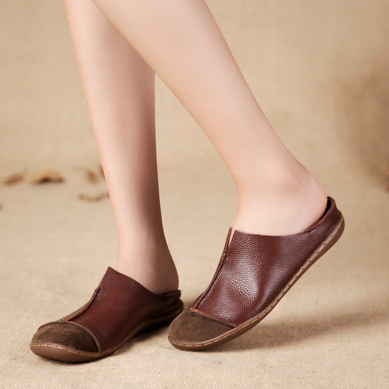 654ee3d927fce Women's Shoes Genuine Leather Flats Brown/blue Casual Slip on Loafers Ladies  Moccasins Mori Girl Style 2016-in Women's Flats from Shoes on  Aliexpress.com ...