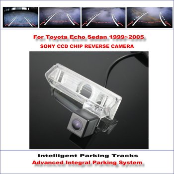 Intelligentized Reversing Camera For Toyota Echo Sedan 1999~2005 Rear View Back Up / 580 TV Lines Dynamic Guidance Tracks