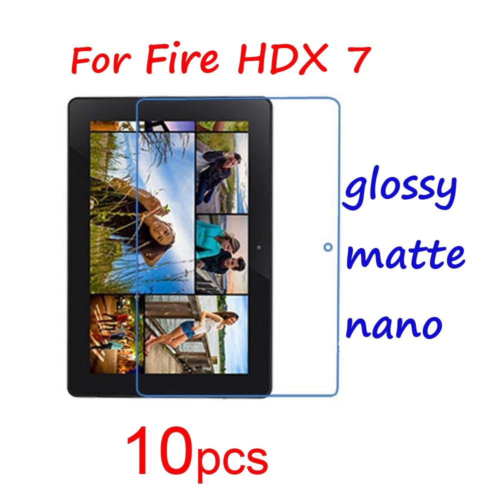 10 stücke display-schutzfolien schutzfolie schutzfolien für amazon kindle fire hdx hdx7 7,0...