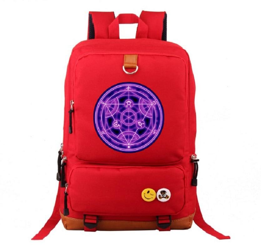 Anime Fullmetal Alchemist backpacks for teenage unisex large capacity  backpack Anime unisex BackpackAnime Fullmetal Alchemist backpacks for teenage unisex large capacity  backpack Anime unisex Backpack