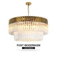 Золотой американский стиль светодио дный Ретро люстры Светодиодные хрустальные светильники для гостиной спальня зал отеля Ресторан столо...