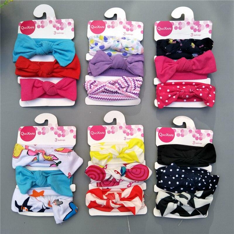 Colorful Child Hair Band Accesorios para bebés lindos Cotton Bow - Ropa de bebé